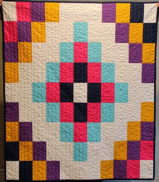 colorful tiles quilt